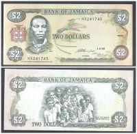 Jamaica 2 Dollars 1993 UNC CRISP Banknote P-69e - Jamaique