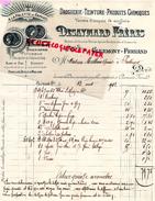 63 - CLERMONT FERRAND- FACTURE DESAYMARD FRERES- DROGUERIE TEINTURE - A LA PALETTE DE RAPHAEL-PEINTRE- PEINTURE- 1902 - France