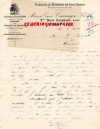 40- SOUSTONS - BELLE  LETTRE MANUSCRITE SIGNEE  VVE OMER CAUNEGRE - FABRIQUE BOUCHONS LIEGES- LIEGE- 1911 - France