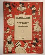 AK   WALT DISNEY  MICKEY MOUSE   MAGAZINE    1936. LJUBLJANA SLOVENIA     PIANO MUSIC - Slav Languages
