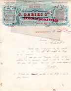 40- MONT DE MARSAN- BELLE FACTURE FABRIQUE BOUCHONS -J. DARIES -HARAMBOURG- DROGUERIE EPICERIE-61 RUE GAMBETTA-1909 - France