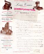 40- MONT DE MARSAN-BELLE FACTURE LOUIS TIXIER- P. DORIAN-MACHINES A VAPEUR-CHAUDRONNERIE-SOUDURE AUTOGNE- ALAMBIC VAPEUR - France