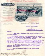 40- YCHOUX- BELLE FACTURE EXPLOITATIONS FORESTIERES- LARCHE-DUMARTIN- VOIE DECAUVILLE- SCIERIE RABOTERIE- 1920 - France