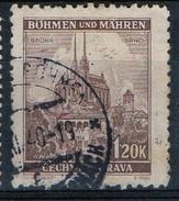 PIA - BOEMIA E MORAVIA - 1940-41 -  Cattedrale Di Brno :  - (Yv 49) - Boemia E Moravia