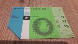 Old Sport Ticket - Olympiade 1972, Germany, Munchen, Athletics - Olympics