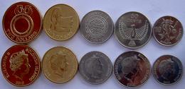 SOLOMON ISLAND 2012 SERIE 5 MONETE 2$  1$ 50 20-10 CENT NEW SALAMON - Isole Salomon