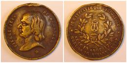 MÉDAILLE 1857 Pierre Jean BÉRANGER, Poète Et Chansonnier. - Monarquía / Nobleza