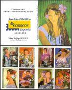 ESPAGNE SPANIEN SPAGNA SPAIN ESPAÑA 2003 WOMAN-FLOWERS  A. ROLDAN PICTURES CARNET ED C3969-77 YV C3540-47 MI C3826-33