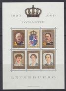 Luxemburg 1990 100J. Dynastie M/s ** Mnh (F6208)