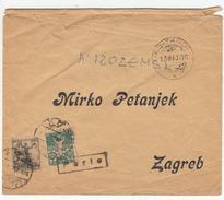 SHS Croatia Mirko Petanjek Preprinted Letter Cover Travelled 1919 Veliko Trgovisce Ported Zagreb B170510 - Croazia
