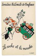 CPA SEMAINE NATIONALE DE L'ENFANCE DESSIN DE F. LESOURT LE COCHE ET LA MOUCHE - Illustrators & Photographers