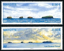 MAYOTTE 2009 - Yv. 228 Et 229 **   Cote= 5,00 EUR - Ilots Des 4 Frères (2 Val.)  ..Réf.AFA22715 - Mayotte (1892-2011)
