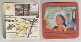 Werbebierdeckel , Hörnle , Wein/Biergarten , Brackenheim - Der Geniesser Gutschein - Bierdeckel