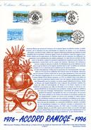 """FRANCE/ MONACO / ITALIE 1996 : Document Philatélique Officiel N° YT 3003 """" 30 ANS DE L'ACCORD RAMOGE """" En Parfait état ! - Emissions Communes"""