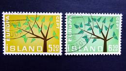 Island 364/5 Oo/used, EUROPA/CEPT 1962 - 1944-... Republik