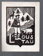 Ex-libris  L'ous Taü (pyrénées)  (PPP5025) - Ex-libris