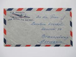 GB Kolonie Aden 1949 Via Aerea / Luftpostbrief Nach Braunschweig Mit Ankunftsstempel. Mischfrankatur. Interessant! - Aden (1854-1963)