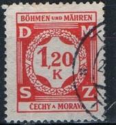 PIA - BOEMIA E MORAVIA - 1940 - Francobollo Di Servizio :  - (Yv 7) - Boemia E Moravia