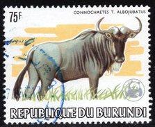 BURUNDI - N° 903 - 75F Gnou - Gnu WWF - Oblitéré - Used - Burundi