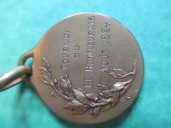 Médaille De Sport/TENNIS/ Bronze Doré/HONFLEUR/1924                                       SPO118 - Tennis