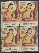 INDIA 2017,AATUKURI MOLLA,, South India ANDHRA, Poetess,religous Scholar,teacher, Religion,1v Block Of 4, MNH,  (**)