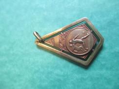 Médaille De Sport/Foot-Ball/ Bronze Doré /( Poinçon)/USFC/ Union Sportive Des Chemins De Fer/ Vers 1920-1940      SPO120 - Football