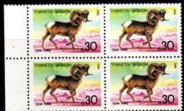 BF198 - TAGIKISTAN 1993 ,  Unificato Serie N. 4  ***  MUFLONE : QUARTINA - Tagikistan