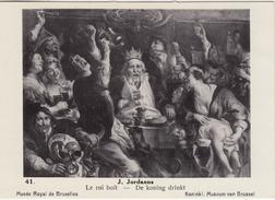 "REPRODUCTION N° 41 PRINCEPS CIGARILLOS VAN DYCK - JACOB JORDAENS ""LE ROI BOIT, DE KONING DRINKT"" / MUSEE ROYAL BRUXELLES - Old Paper"