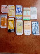 Lote De 10 Tickets,transportes,Portugal - Europa