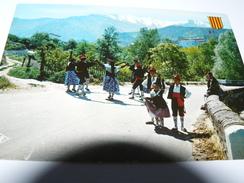 CARTE POSTALE  ROUSSILLON DANSE FOLKLORIQUE SARDANE 66 PYRENEES ORIENTALES ORFEO CANIGO I PERPINYA - Danses