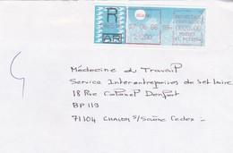 TIMBRE DE DISTRIBUTEUR PAPIER CARRIER BEAUNE  RECOMMANDE A 20.00 EUROS EN 1986 - 1985 «Carrier» Papier
