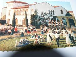 CARTE POSTALE  ROUSSILLON DANSE FOLKLORIQUE SARDANE 66 PYRENEES ORIENTALES GROUPE CATALUNYA PERPIGNAN SAINT VICENS - Danses