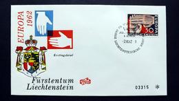 Liechtenstein 418 FDC, ESST Vaduz, EUROPA/CEPT 1962 - FDC