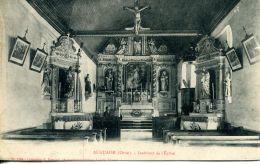 N°47417 -cpa Auguaise -intérieur De L'église - Autres Communes
