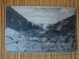 Original-Aufnahme Vom Kriegsschauplatz, Zerstörter Wallgraben Der Festung Lüttich, Ungelaufen - Weltkrieg 1914-18