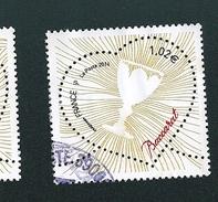 N° 4833 Coeur De Baccarat «Verre»»  Timbre   France Oblitéré 2014