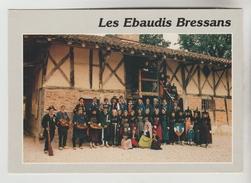 """CPM SAINT ETIENNE DU BOIS (Ain) GROUPE FOLKLORE TRADITIONS COSTUMES MUSIQUE - Les """"Ebaudis Bressans"""" - Anglet"""