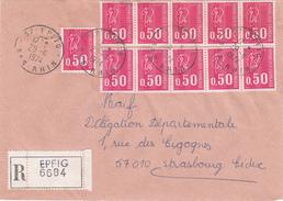 Y&T 1664 X 11 Sur LR De EPFIG Du 29.11.1974 Adressée à Strasbourg - Elsass-Lothringen