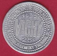 Chambre De Commerce - Vichy 1922 - 25 C - Monétaires / De Nécessité