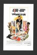 AFFICHES - POSTERS - CINÉMA - JAMES BOND AGENT 007 -  US POSTER  ROGER MOORE - FOR LIVE AND LET DIE (1973) - Affiches Sur Carte