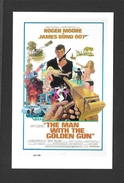 AFFICHES - POSTERS - CINÉMA - JAMES BOND AGENT 007 -  US POSTER  ROGER MOORE - FOR THE MAN WITH THE GOLDEN GUN (1974) - Affiches Sur Carte