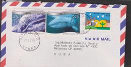 O) 2012 KOREA, WHALES - BALAENIDAE, JOINT ISSUE WITH MEXICO, COVER TO MATANZAS-CARIBE, XF - Korea (...-1945)