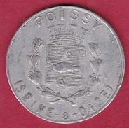 Chambre De Commerce - Poissy 1918 - 25 C - Monetary / Of Necessity