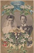 Prägekarte Zur Erinnerung An Die Hochzeit Von Friedrich Wilhelm V. Preussen Und Herzogin Cecilie Gelaufen Minden 6.6.05 - Königshäuser
