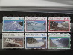 1992  Nouvelle Zélande - Yvert 1174/9 ** Glaciers Scott 1104/9  Michel  1230/5  SG 1675/80 - Nouvelle-Zélande