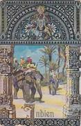 AK Zur Erinnerungan Die Reise Des Dt. Kronprinzen Nach Ostasien 1910/11 Gelaufen Calcutta  9.2.11 - Königshäuser