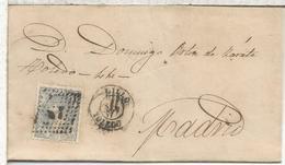 ESPAÑA ENVUELTA 1871 LILLO TOLEDO A MADRID - Cartas