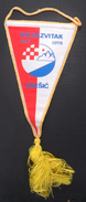 NK RAZVITAK UNESIC CROATIA FOOTBALL CLUB, CALCIO OLD PENNANT, SPORTS FLAG - Uniformes Recordatorios & Misc
