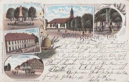 AK Gruss Aus Bergen Bei Celle Color Gelaufen 31.12.98 - Bergen