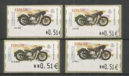 ESPAÑA ATM MOTO MOTORCYCLE SANGLAS 4 VARIETIES - Motorfietsen